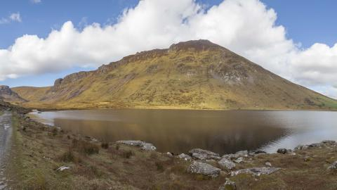 Lough Annascaul - panorama
