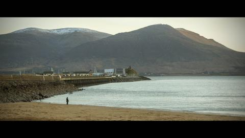 Fenit beach mountain view