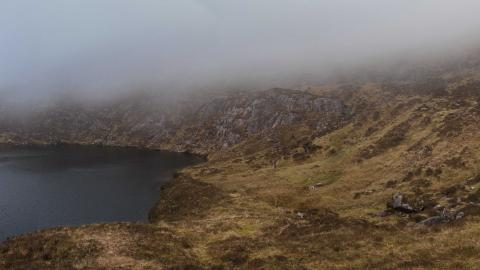 Lough Doon - panorama