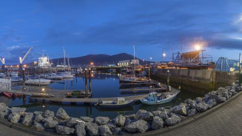 Fenit pier at night
