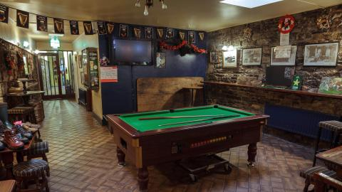 The Rock Inn pool table