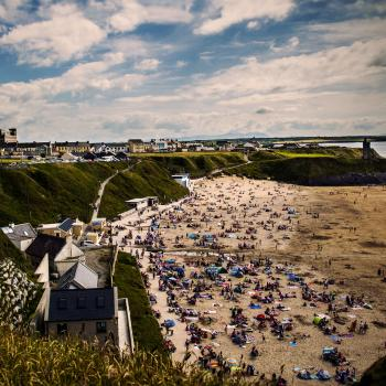 Ballybunion beach summer time